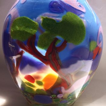 Art glass landscape by Gerry Reilly-44