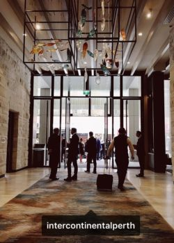 Intercontinental Hotel Perth Gerry Reilly Foyer installation Forest Drift