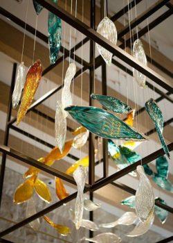 Intercontinental Hotel Perth Gerry Reilly Foyer installation Forest Drift detail