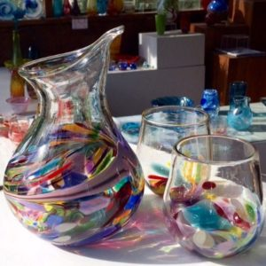 Art glass tableware by Gerry Reilly -21