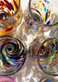 Art glass tableware by Gerry Reilly -25