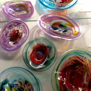 Art glass tableware by Gerry Reilly -39