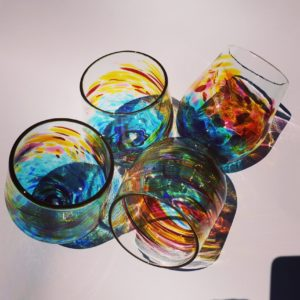 Art glass tableware by Gerry Reilly -42