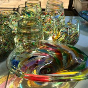 Art glass tableware by Gerry Reilly -48