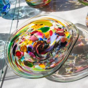 Art glass tableware by Gerry Reilly -51