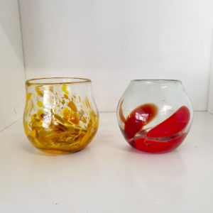 Tealight Candleholder $100 or $150 pair red or yellow